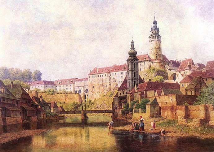 qué hacer en Český Krumlov: cuadro de cesky krumlov