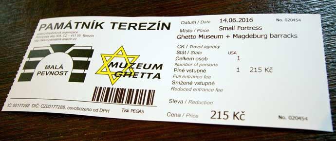 entrada para Terezín