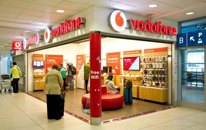 Tienda de la Vodafone en el aeropuerto de praga