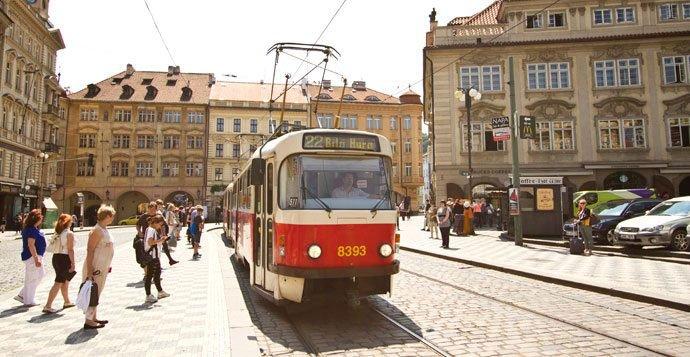 dos días en Praga: tranvía 22,