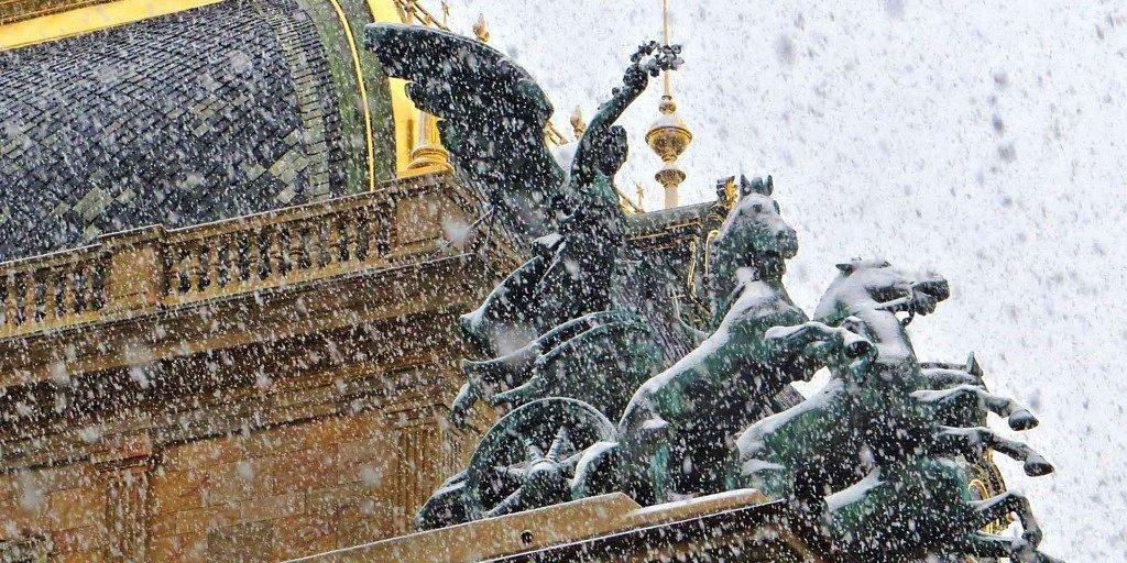 nieve en Praga