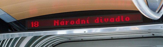aviso en los tranvías de praga