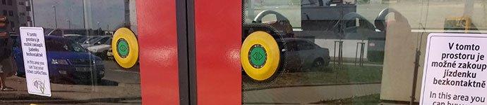 botones de los tranvías de praga